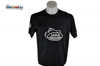 T-Shirt JAWA schwarz mit weißem Aufdruck