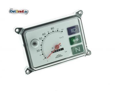 Gerätekombination, Tachometer, Kombiinstrument für SR50, SR80 - ohne Leuchtmittel, Skale weiß - 100 km/h