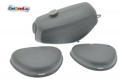 Tank Set mit Seitendeckel für Simson S51 S70 grundiert, innen versiegelt, Originalmaße