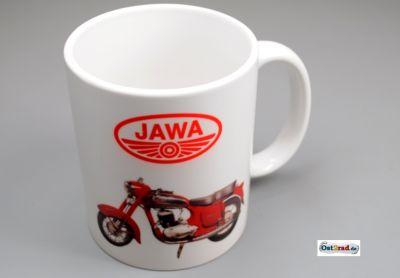 Tasse weiss mit Aufdruck JAWA Kyvacka 353