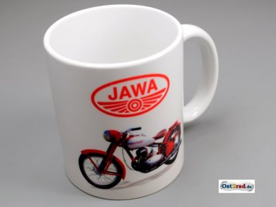 Tasse weiss mit Aufdruck JAWA Perak