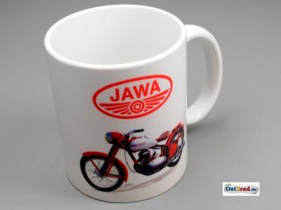 "Tasse blanche avec impression ""JAWA Perak"""
