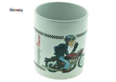 Tasse blanche motif ETS 250 Trophy Racer
