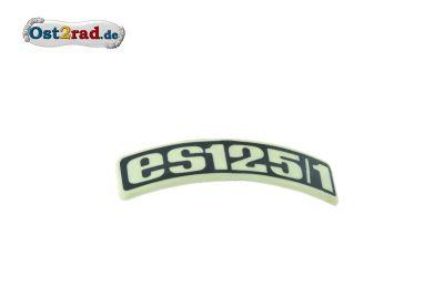 Abzeichen Plakette für Kotflügel MZ ES 125/1 gebogen Plastik