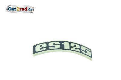 Abzeichen Plakette Kotflügel passend für MZ ES125 gebogen Plastik