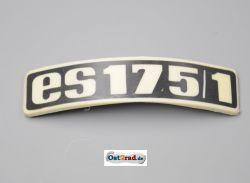 Abzeichen Plakette für Kotflügel MZ ES 175/1 gebogen Plastik
