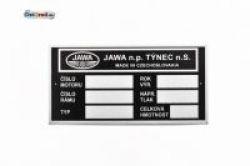 Typenschild blanko JAWA 634 Tschechisch