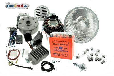 Umbausatz Zündung Vape für MZ ES 125 150 komplett 12V mit Reflektor H4