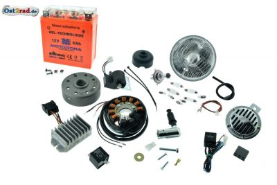 Umbausatz Zündung Vape für Troll TR150 komplett 12V mit Reflektor H4