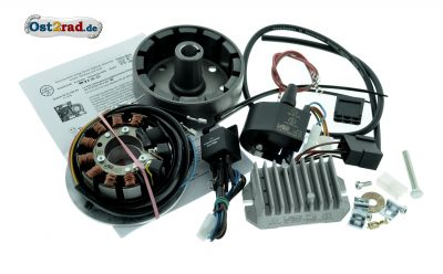 Elektronische Zündung Vape für MZ ETZ 250 251, 12V 180W mit Lichtmaschine