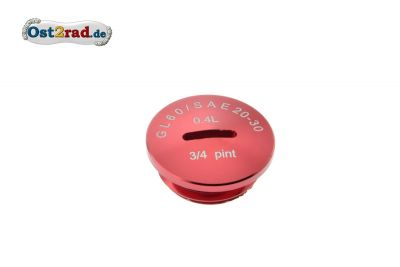 Cap for Oil fill SIMSON Alu red