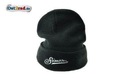 Wintermütze Beanie schwarz mit SIMSON Schriftzug