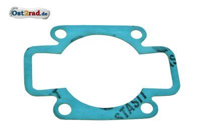 Zylinder Fußdichtung für MZ ETZ 250 , 300 , 251 und 301  Plastasit blau