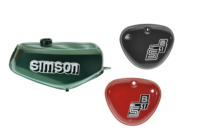 B/üffeltank Set mit Seitendeckel f/ür Simson S50 S51 innen versiegelt wei/ß