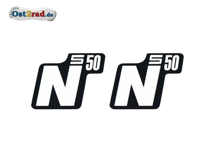 Ost2radcom Aufkleber Paar Seitendeckel Simson S50 N Weiß