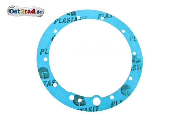 Dichtung Abschlussdeckel Kardan MZ BK 350 Plastasit blau