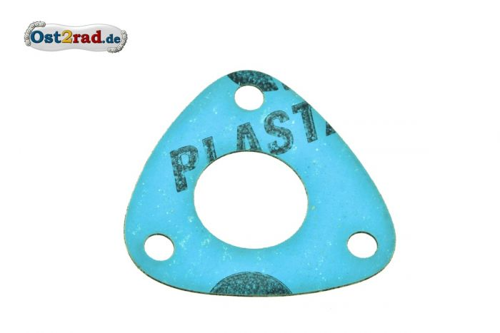 Dichtung am Getriebe für 3-eckigen Deckel Simson AWO Plastasit blau
