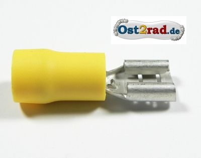 Cosse plate femelle 6,3 mm jaune
