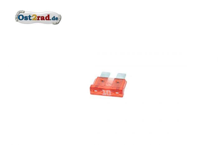 Flachstecksicherung Standard 10A ROT