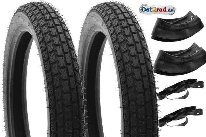 2x SET Klassik33 Reifen für Simson S50 S51Vogelserie, 2,75-16 150km/h reinforced