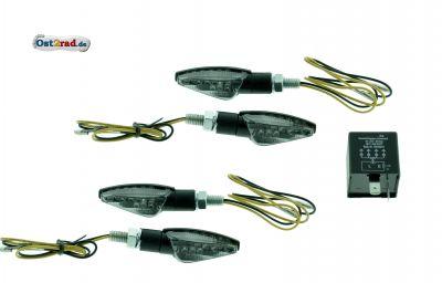 mini led blinker satz passend f r simson s51 mit blinkgeber. Black Bedroom Furniture Sets. Home Design Ideas
