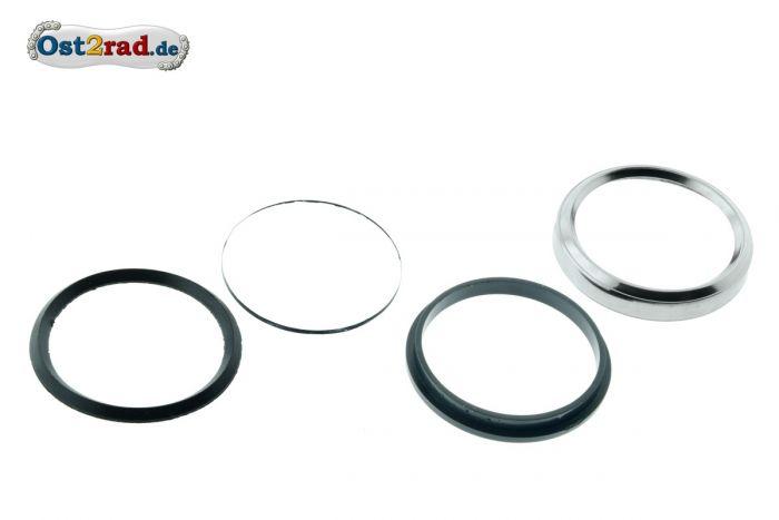 Reparatursatz Tachoring Glas 60mm für Simson S51 CHROM