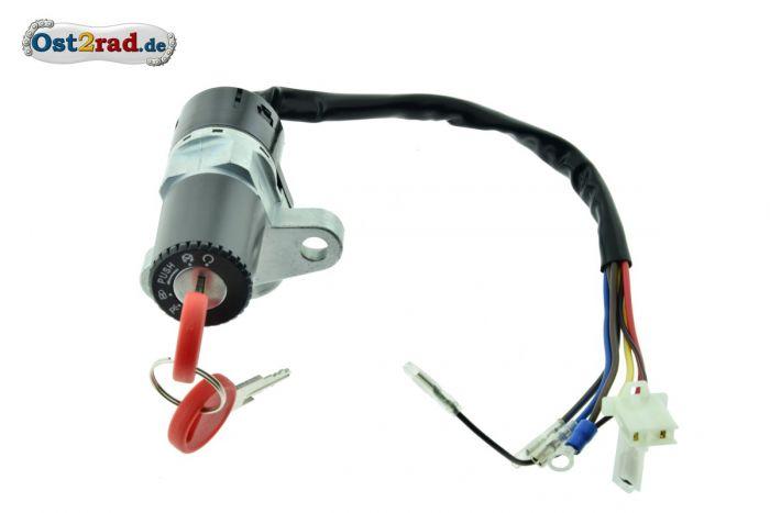 Ignition switch MZ, MuZ, Kanuni, ETZ, Saxon, Rotax, Steering lock