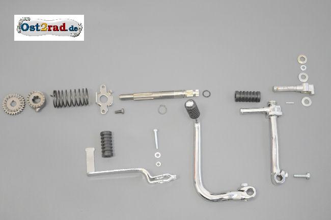 Kickstarteranlage und Schaltbetätigung Kickstarter Kickstarterfeder Simson S51 SR50 KR51/2 4-Gang Motoren
